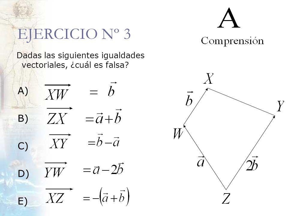 EJERCICIO Nº 3 A) B) C) D) E)