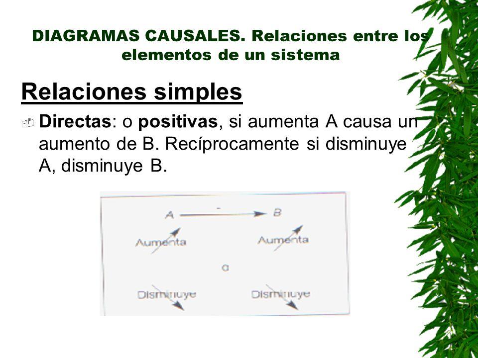DIAGRAMAS CAUSALES. Relaciones entre los elementos de un sistema