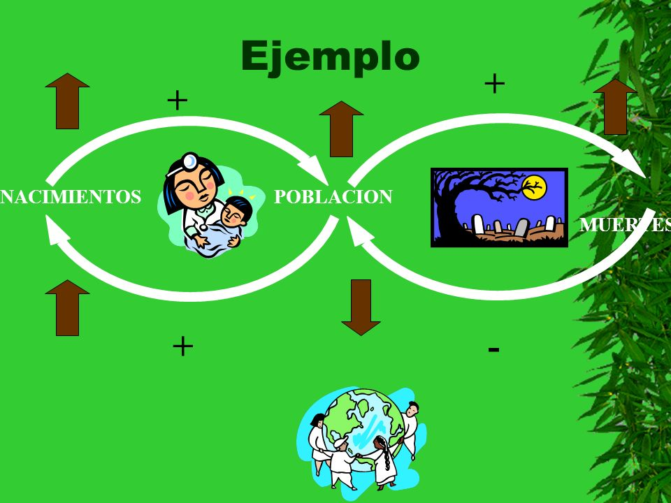 Ejemplo + + NACIMIENTOS POBLACION MUERTES + -