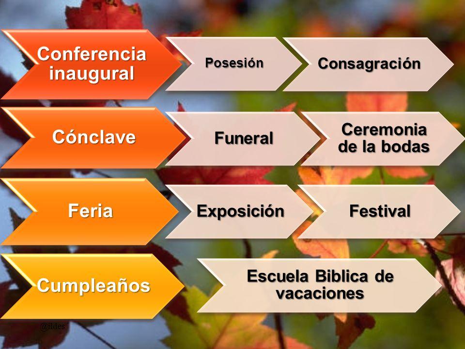 Conferencia inaugural Escuela Biblica de vacaciones