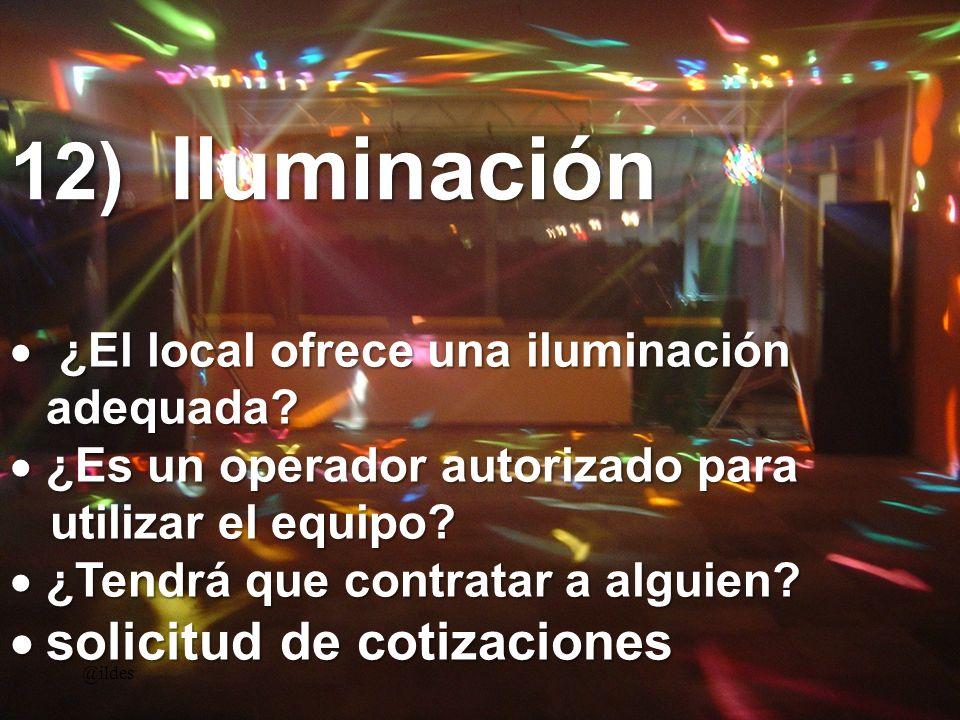 12) Iluminación solicitud de cotizaciones