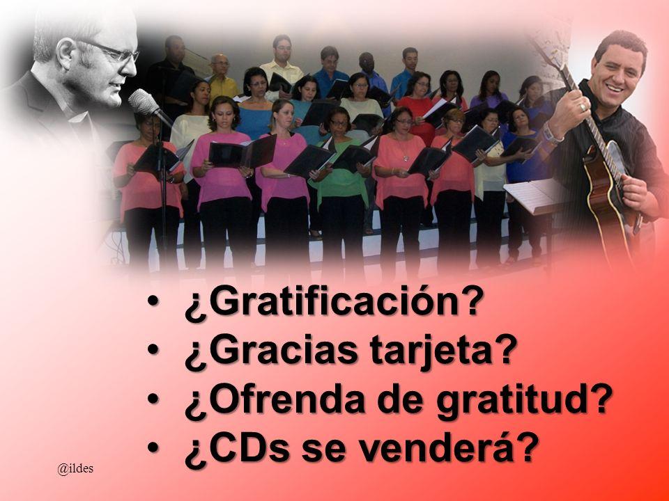 ¿Gratificación ¿Gracias tarjeta ¿Ofrenda de gratitud