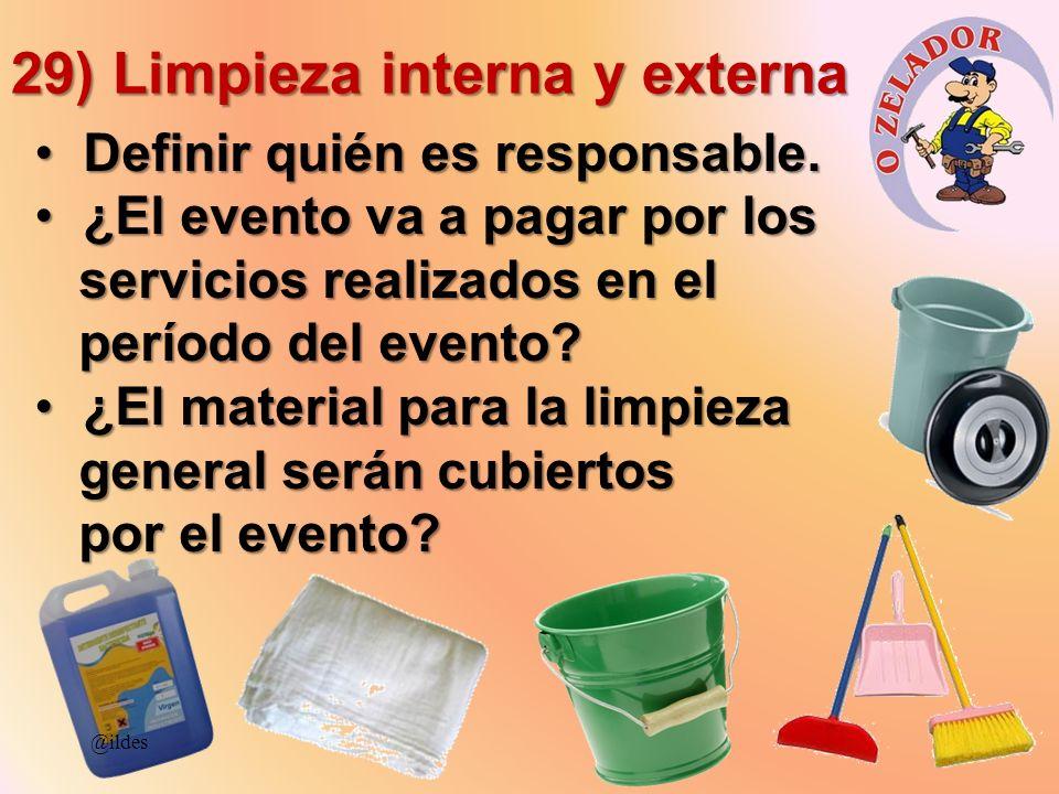 29) Limpieza interna y externa