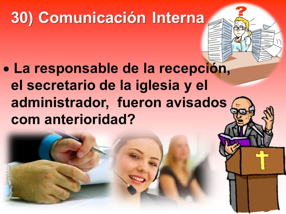30) Comunicación Interna