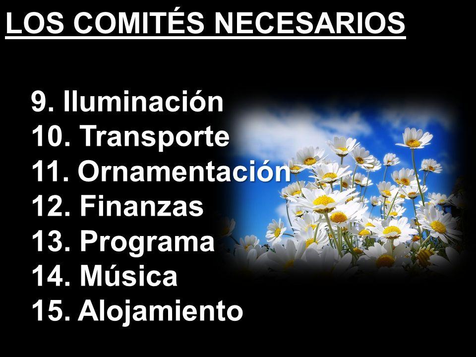 LOS COMITÉS NECESARIOS