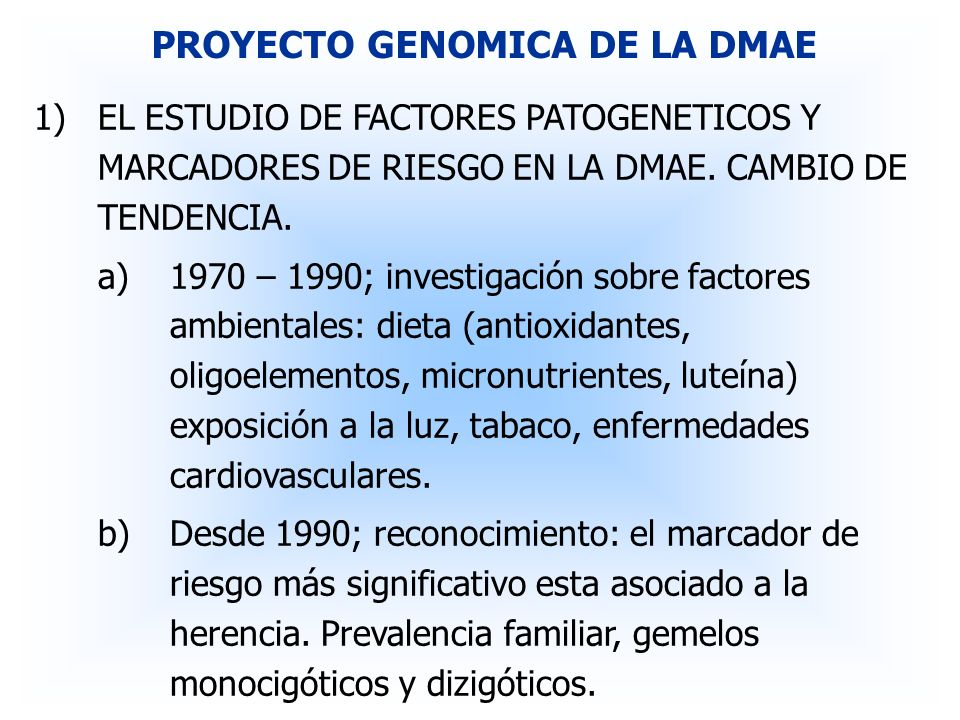PROYECTO GENOMICA DE LA DMAE