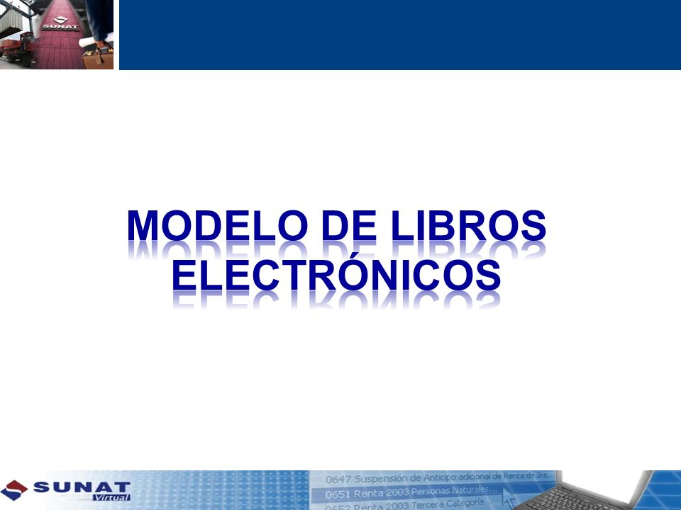 MODELO DE LIBROS ELECTRÓNICOS