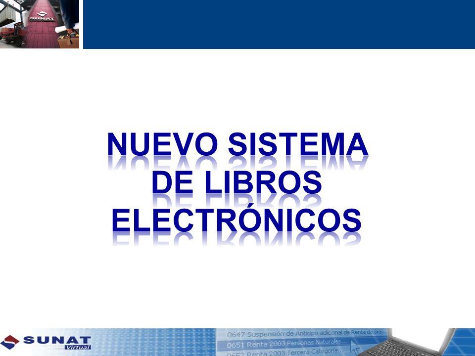 Nuevo SISTEMA DE LIBROS ELECTRÓNICOS
