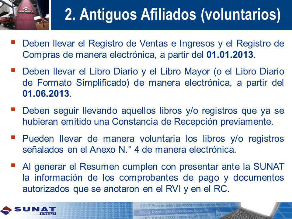2. Antiguos Afiliados (voluntarios)