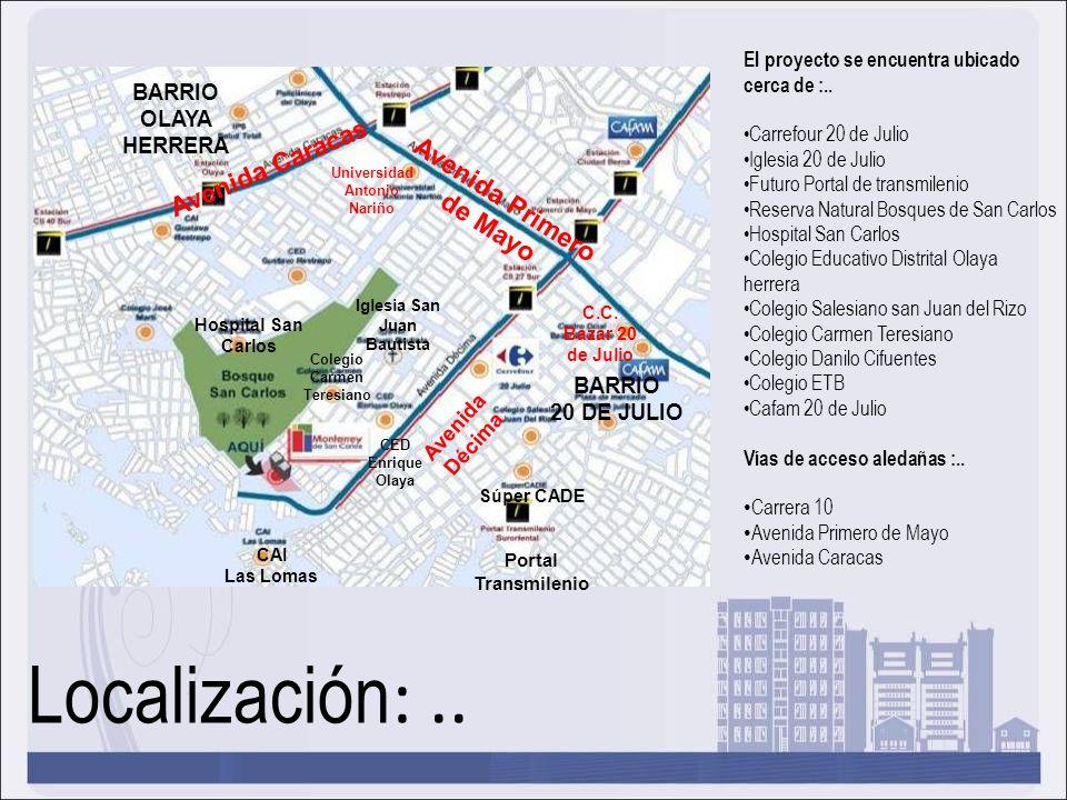 Localización: .. Avenida Caracas Avenida Primero de Mayo BARRIO