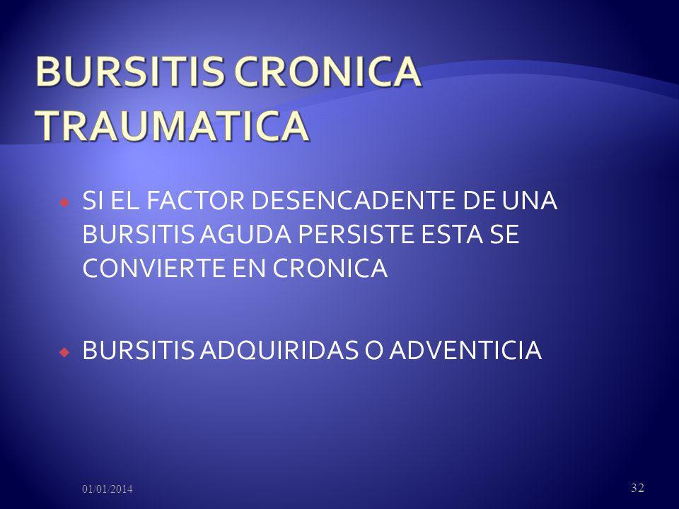 BURSITIS CRONICA TRAUMATICA