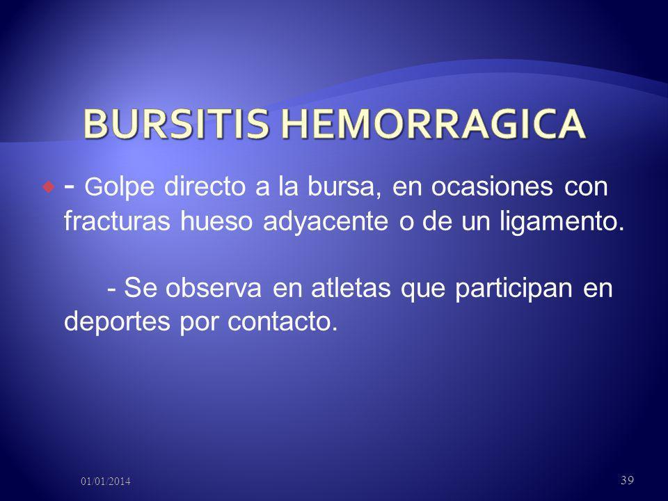 BURSITIS HEMORRAGICA