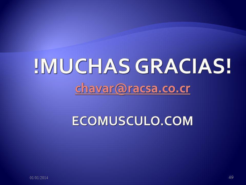 !MUCHAS GRACIAS! chavar@racsa.co.cr ECOMUSCULO.COM