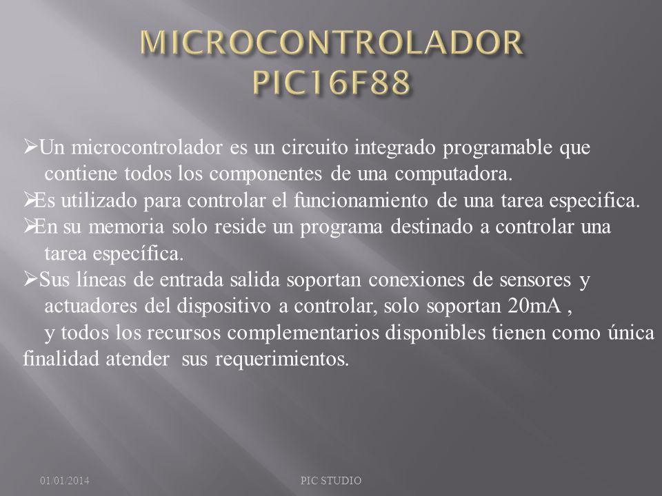 MICROCONTROLADOR PIC16F88
