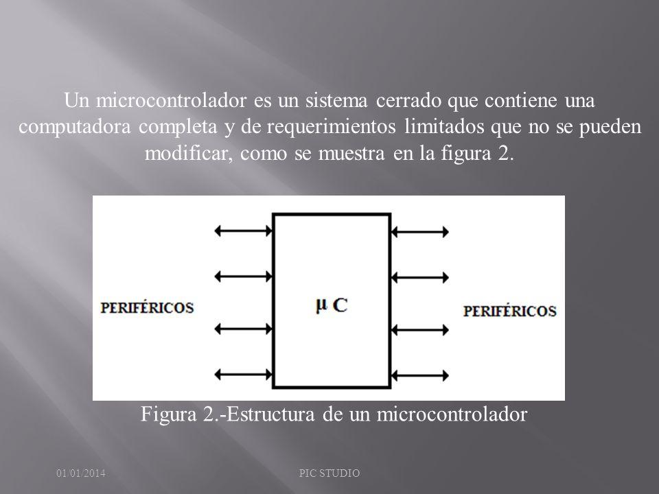 Figura 2.-Estructura de un microcontrolador