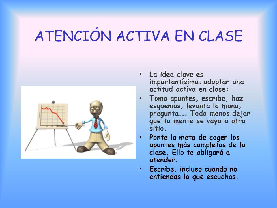 ATENCIÓN ACTIVA EN CLASE