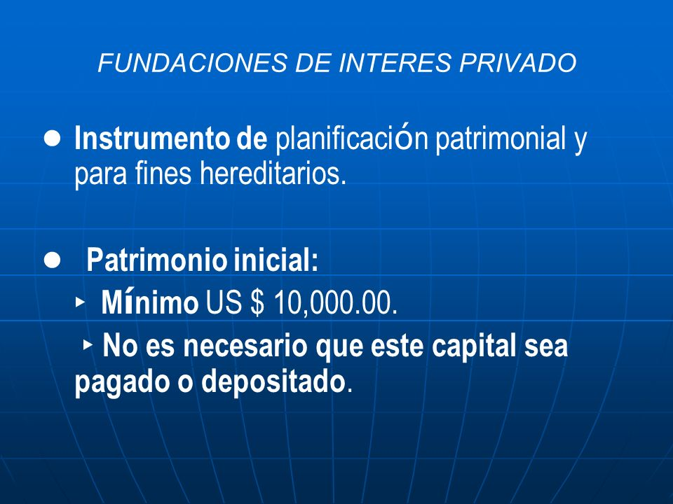 FUNDACIONES DE INTERES PRIVADO