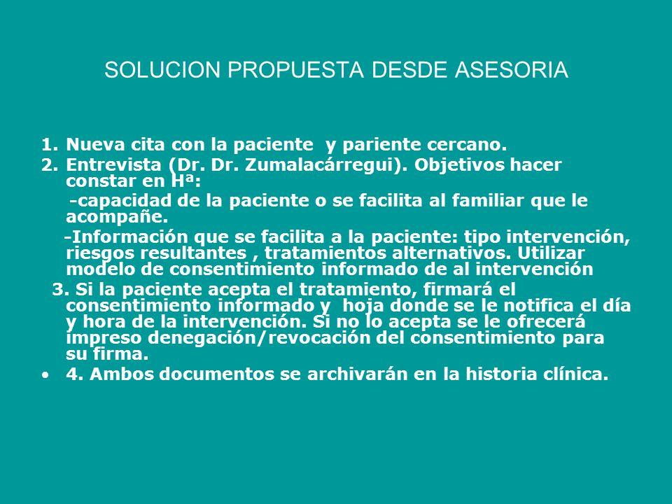 SOLUCION PROPUESTA DESDE ASESORIA