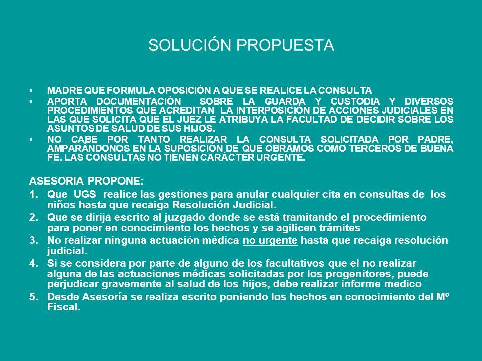 SOLUCIÓN PROPUESTA ASESORIA PROPONE: