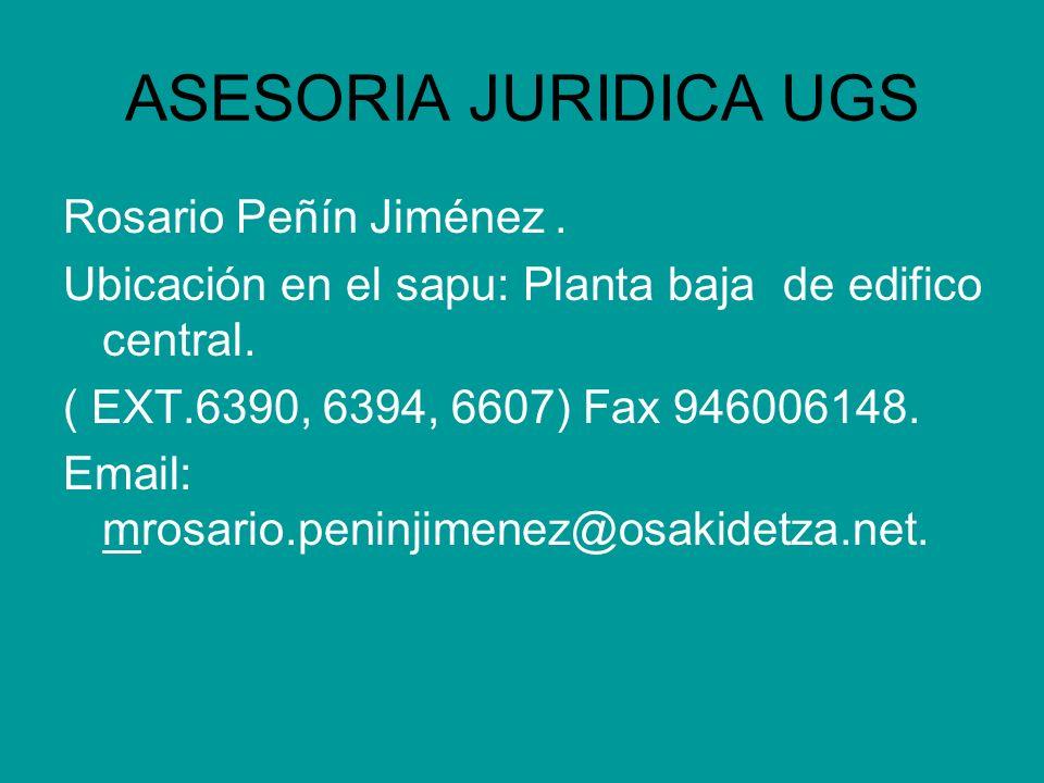 ASESORIA JURIDICA UGS Rosario Peñín Jiménez .