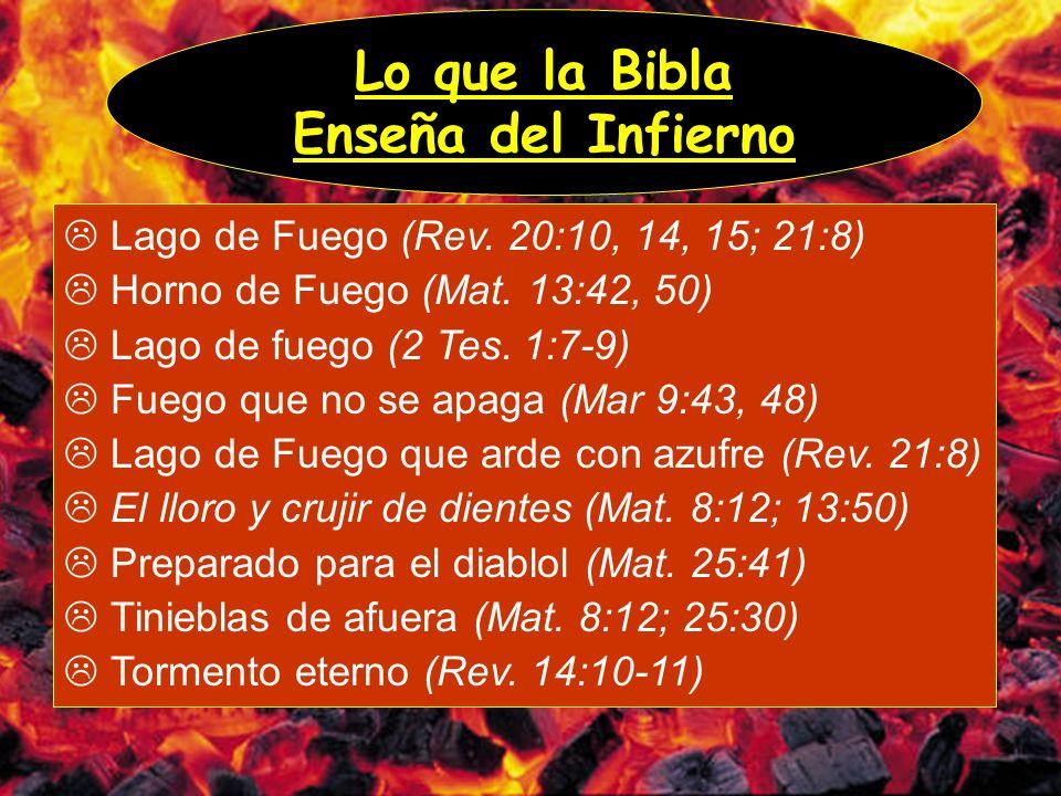 Lo que la Bibla Enseña del Infierno
