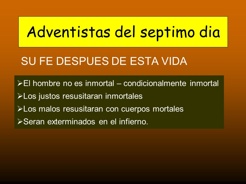 Adventistas del septimo dia