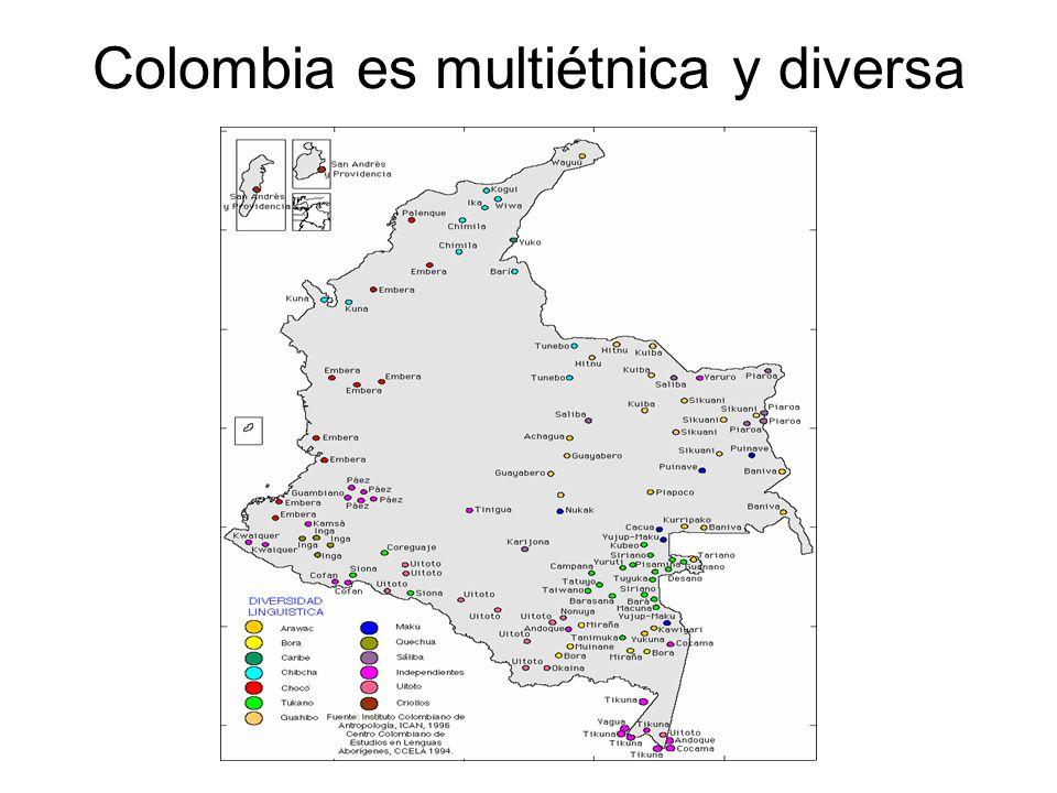 Colombia es multiétnica y diversa
