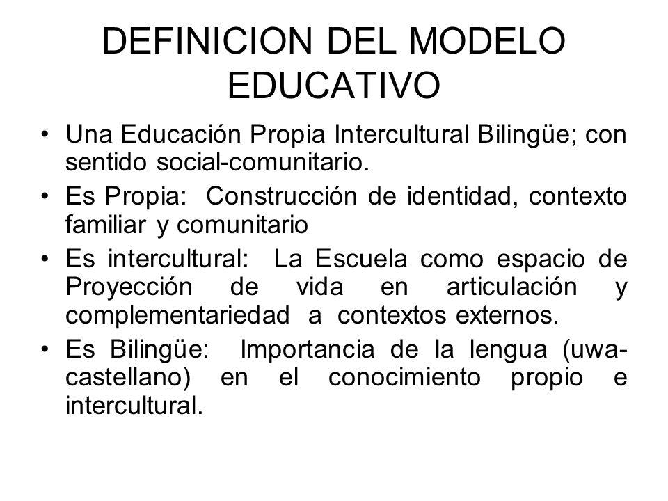DEFINICION DEL MODELO EDUCATIVO