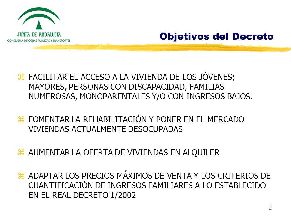 Objetivos del Decreto