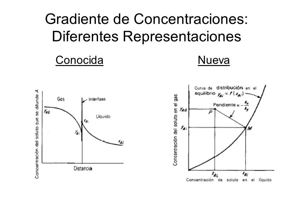 Gradiente de Concentraciones: Diferentes Representaciones