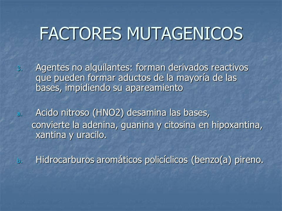 FACTORES MUTAGENICOS
