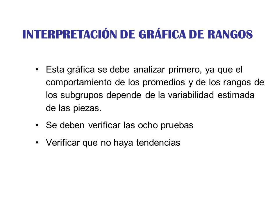 INTERPRETACIÓN DE GRÁFICA DE RANGOS