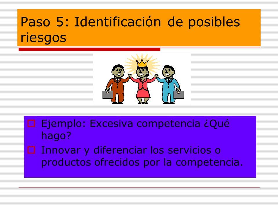Paso 5: Identificación de posibles riesgos