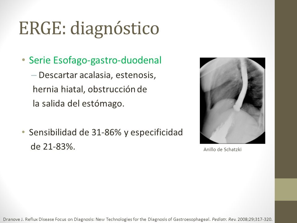 ERGE: diagnóstico Serie Esofago-gastro-duodenal
