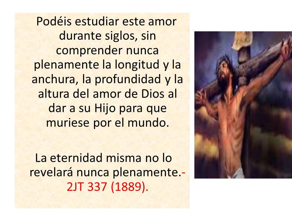 La eternidad misma no lo revelará nunca plenamente.-2JT 337 (1889).