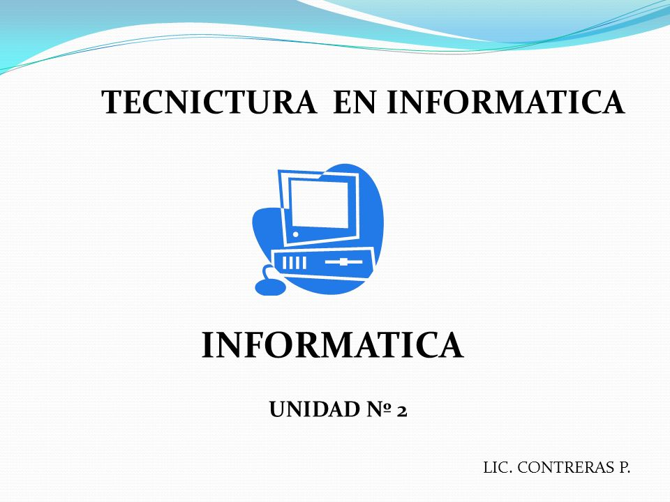 TECNICTURA EN INFORMATICA