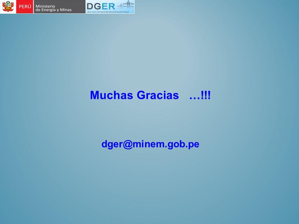 Muchas Gracias …!!! dger@minem.gob.pe