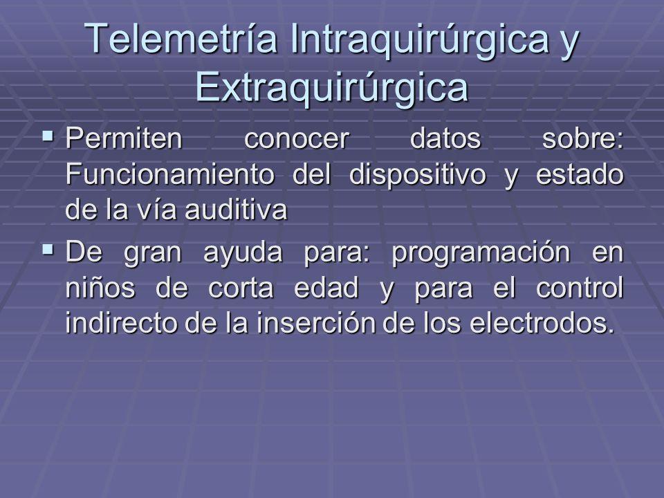 Telemetría Intraquirúrgica y Extraquirúrgica