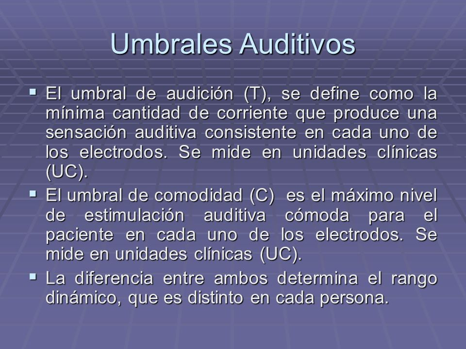 Umbrales Auditivos