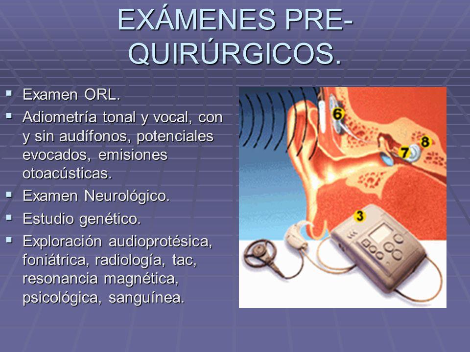 EXÁMENES PRE-QUIRÚRGICOS.
