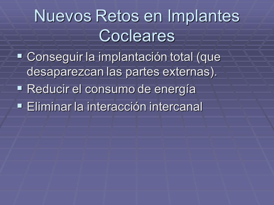 Nuevos Retos en Implantes Cocleares