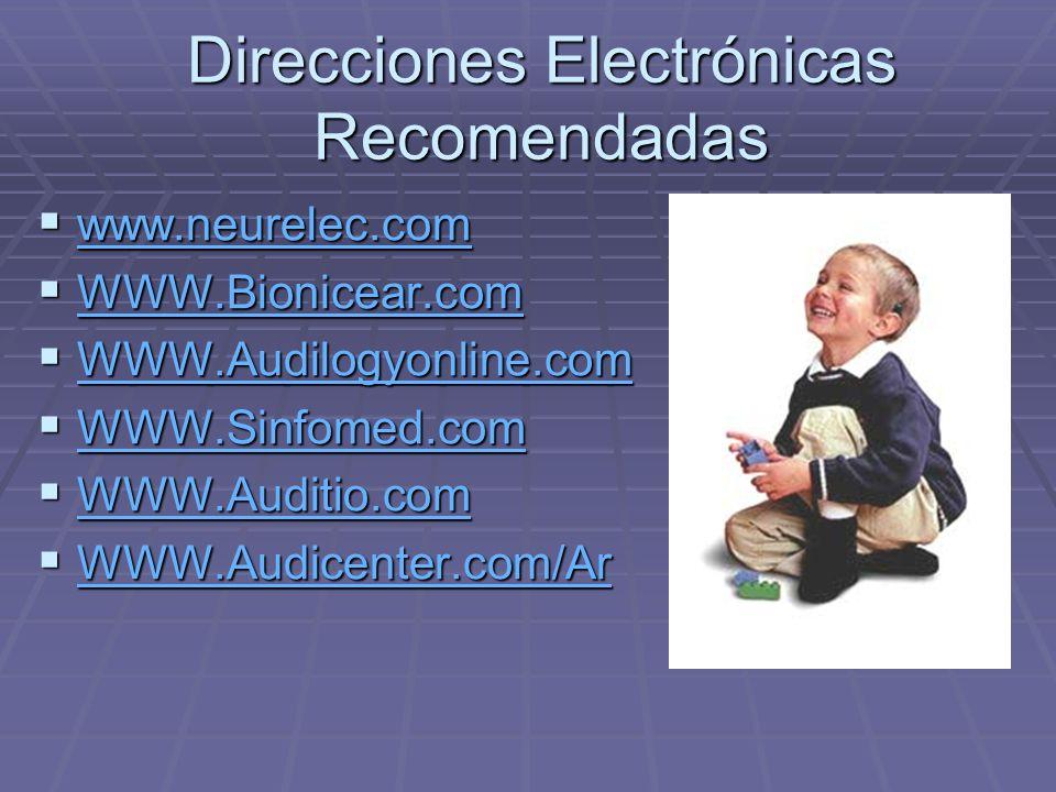Direcciones Electrónicas Recomendadas