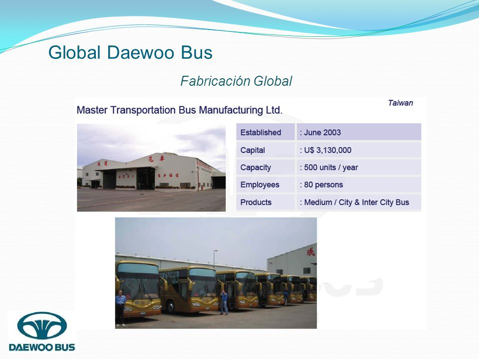 Global Daewoo Bus Fabricación Global