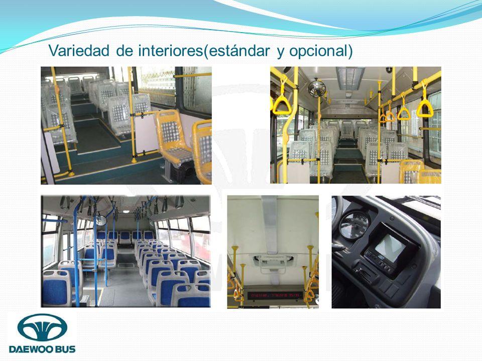Variedad de interiores(estándar y opcional)