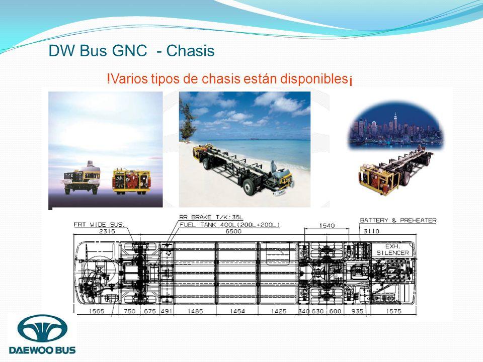 DW Bus GNC - Chasis !Varios tipos de chasis están disponibles¡