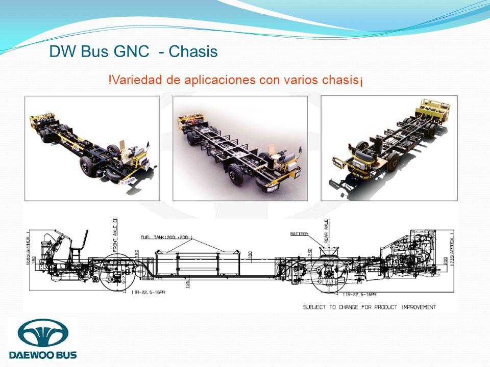 DW Bus GNC - Chasis !Variedad de aplicaciones con varios chasis¡