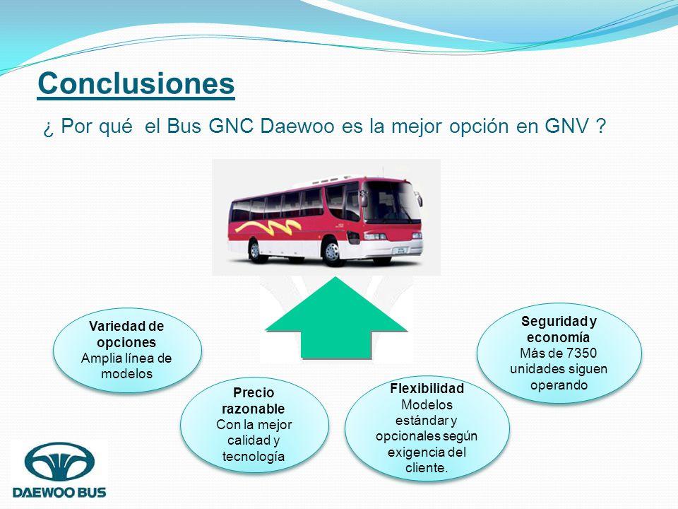 Conclusiones ¿ Por qué el Bus GNC Daewoo es la mejor opción en GNV