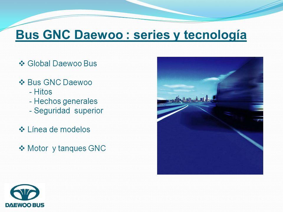Bus GNC Daewoo : series y tecnología