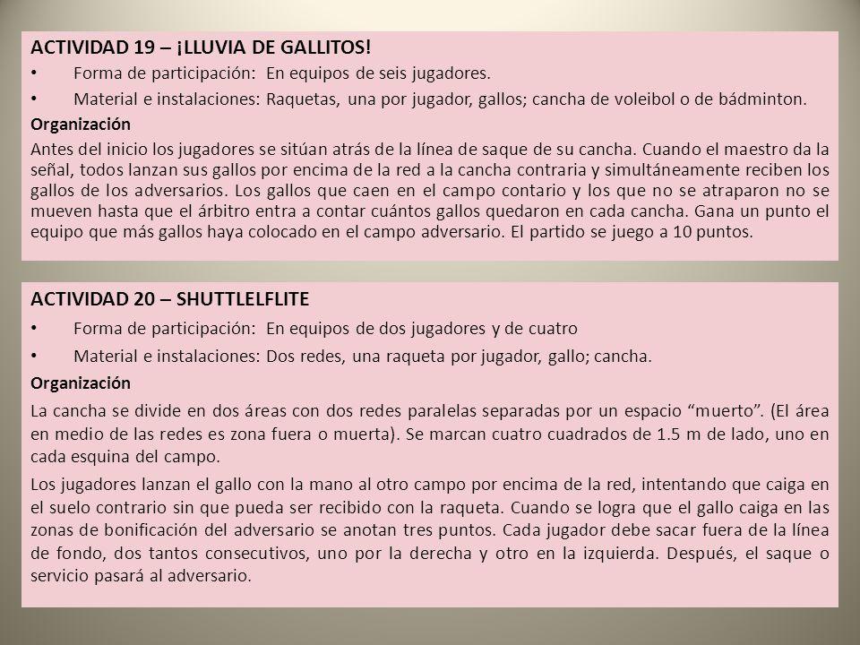 ACTIVIDAD 19 – ¡LLUVIA DE GALLITOS!