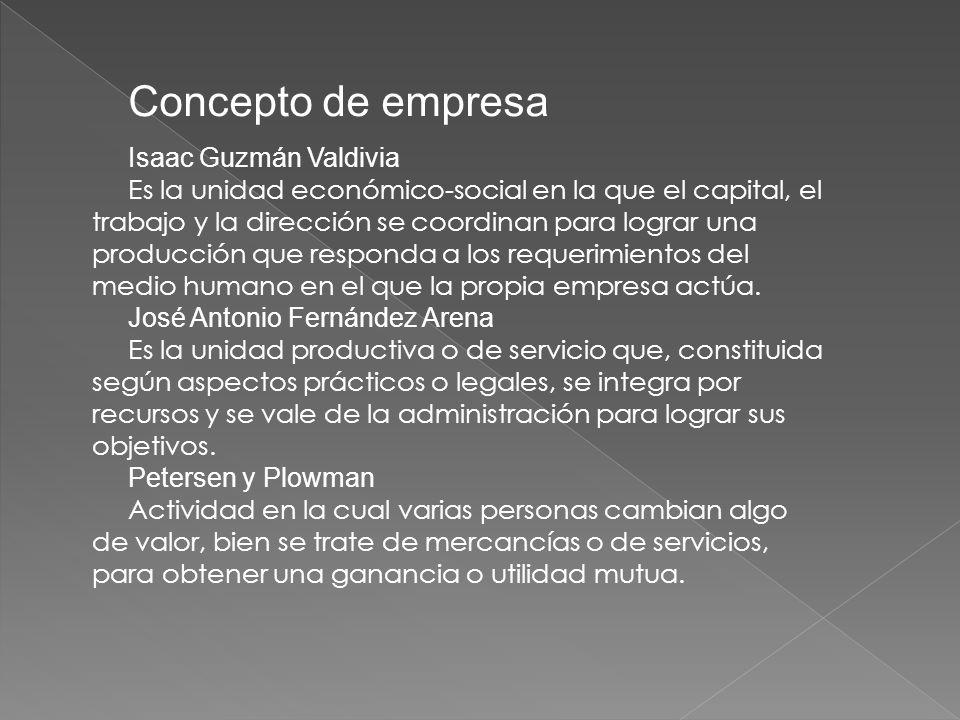 Concepto de empresa Isaac Guzmán Valdivia